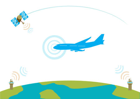 air traffic: Airliner communication concept