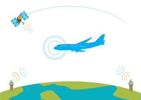 Airliner communication concept Reklamní fotografie - 30682764