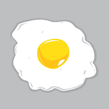 sunny side up: Sunny Side Up Egg Vector Illustration Illustration