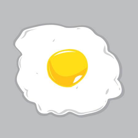 Sunny Side Up Egg Vector Illustration Imagens - 35854805