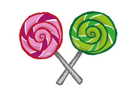 preservatives: Hand drawn Lollipops in X formation