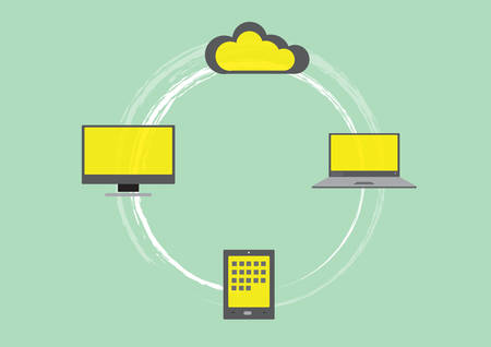 Flat design of computers and cloud servers