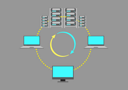 computer network diagram: A Server Farm or data center concept