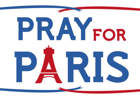 pray for: Pray for Paris support concept. Editable Clip art.