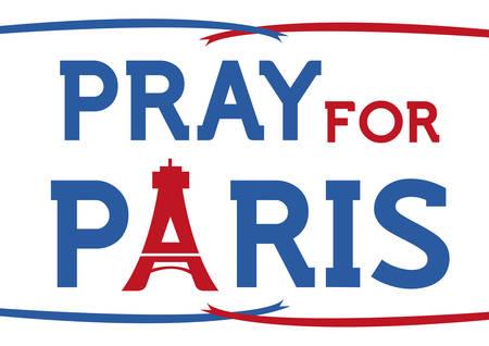 oneness: Pray for Paris support concept. Editable Clip art.