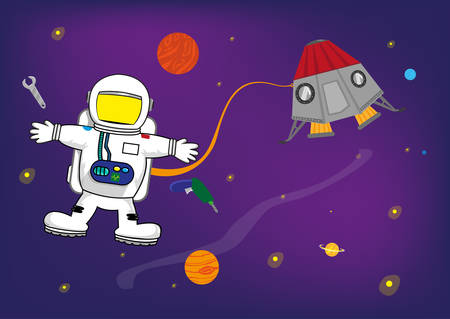 spaceflight: Astronaut Kid in Space with Personalized Helmet for Pictures of Kids. An Astronaut in space with a blank face template for users to put any pictures. Template for Invitations and Event  Banners Clip Art.