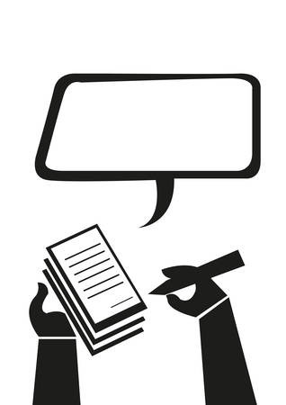Hand Notizen machen oder Schreibt ein Ticket Verletzung Konzept. Editierbare Clip Art. Vektorgrafik