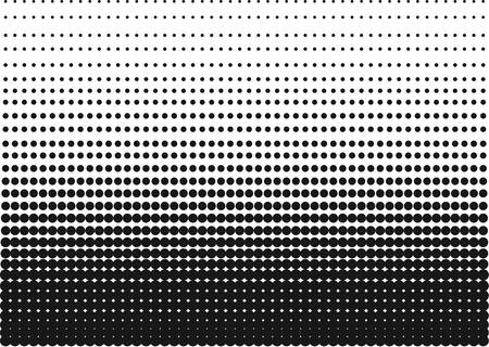 pointillism: Halftone Gradient made of sharp dots for backgrounds and other uses in advertising or posters. Illustration