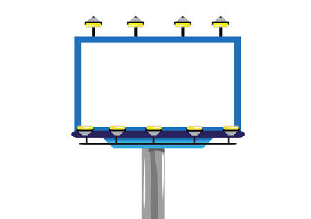 clipart street light: Billboard for Ads and promotion frame template Isolated. Editable Clip Art.