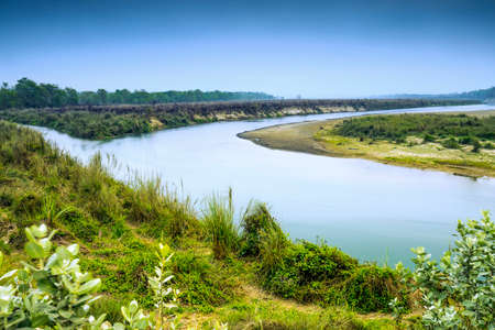 Entrance of Chitwan National Park,River name is Narayani river, in Nepal
