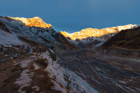 Morning view of Annapurna South Face from Annapurna Base Camp