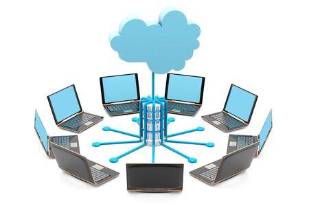 Cloud computing.3d render