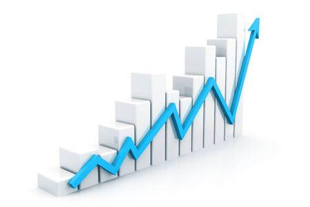 Business graph. 3d rendering