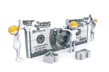 Financial concept. 3d render