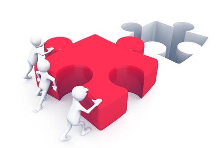 Business teamwork. 3d render