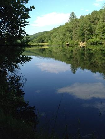 Beautiful summer day an calm river breath taking Stok Fotoğraf