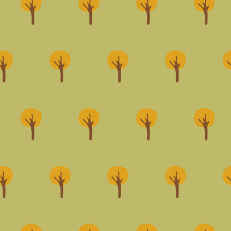 Seamless Tree Pattern Ilustrace