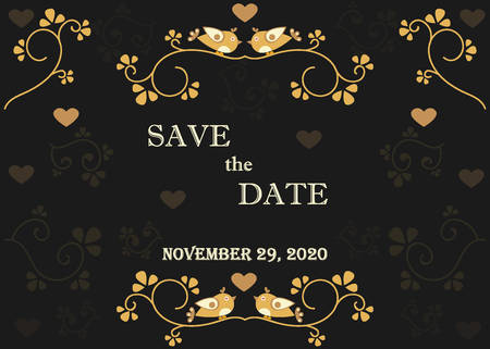 Save The Date Announcement. Royal Collection. Фото со стока - 85495407