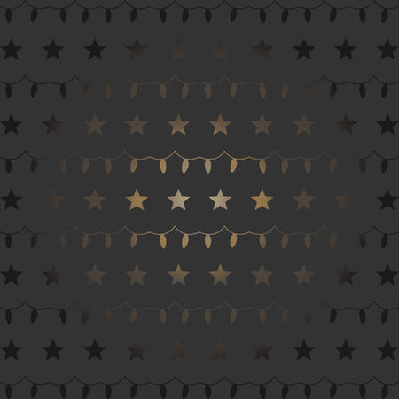 Shiny glittering stars and garland background. Vector Illustration Illustration