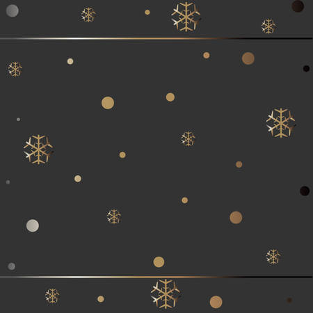 Gold and Silver Frame. For Cards, postcards, backgrounds, etc. Winter Holiday, Christmas Themes. Vector Illustration.Falling Stars and Snowflakes. Snowy