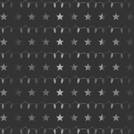 Stars and Garland Festive Background. Vector Illustration. Winter Collection Illustration