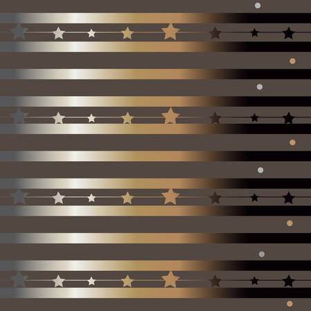 Gold and Silver Frame. For Cards, postcards, backgrounds, etc. Winter Holiday, Christmas Themes. Vector Illustration. Stylized Golden Lines with star rays.