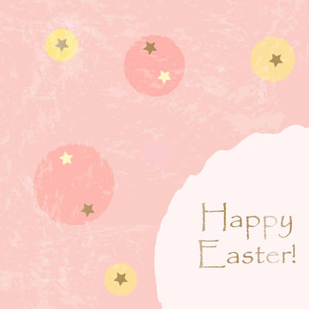 Happy Easter Greeting Card. Vector Illustration Illustration