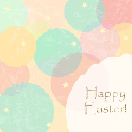 Happy Easter Greeting Card. Vector Illustration Ilustração