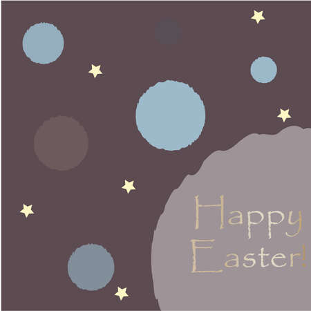Happy Easter Greeting Card. Vector Illustration Imagens