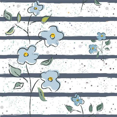 花のシームレスなパターン。背景、壁紙、布地、版画、テキスタイル、ラッピング、カード、スウォッチ、t シャツ、スクラップブック、毛布、枕な
