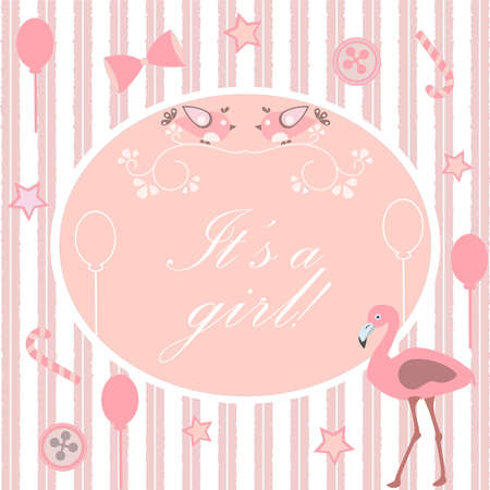 Its a girl announcement. Baby Shower Collection.