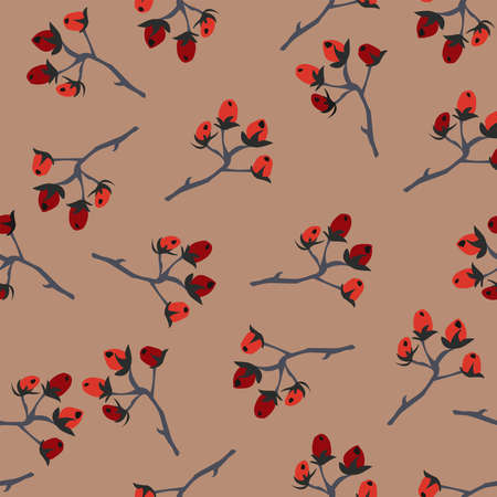 Berry Seamless Pattern. Vector Illustration