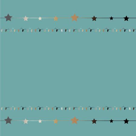 Netter Hintergrund mit glänzenden goldenen Sternen auf Streifen auf subtilem Knickentenhintergrund. Vektor-Illustration Standard-Bild - 89908570