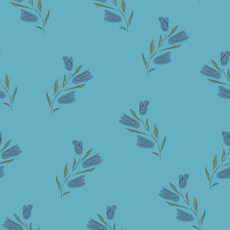 Floral Seamless Pattern. For backgrounds, wallpapers, fabric, prints, textiles, wrapping, cards, swatches, t-shirts, scrapbooks, blankets, pillows, etc. Unique Delicate Design. Vector Illustration. 스톡 콘텐츠