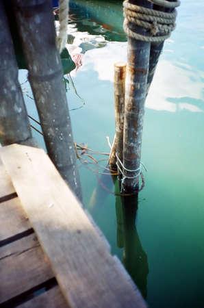 View at pier, Redang Island Stock Photo