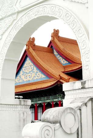 Chiang Kai-shek Memorial arch at Taipei, Taiwan Stock Photo