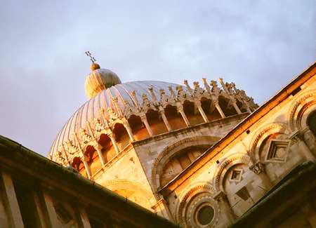 Baptistry in Cathedral Square at Pisa in Italy