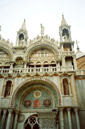 Detail building at St. Marks Basilica of Venice, Italy Stock Photo