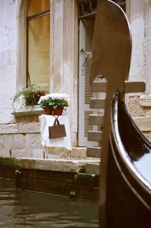 Shop houses at Venice, Italy Stock Photo