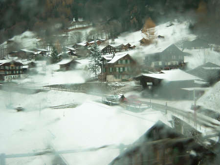 Swiss villages from the window                             photo
