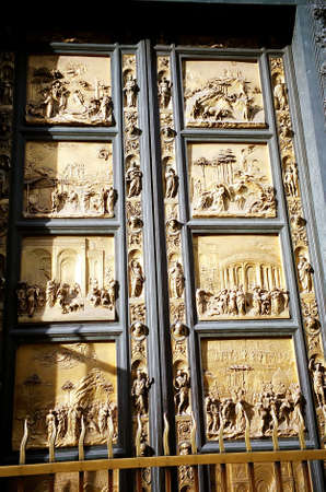 Door of Paradise at Baptistry, Florence, Italy photo