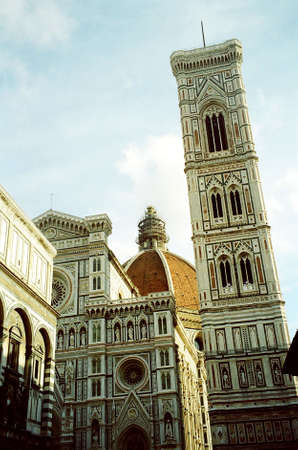 signoria square: Tower and Cathedral, Florence, Italy