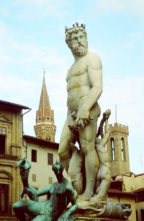Signoria Square at Florence, Italy