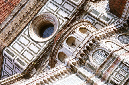 Close-up of Duomo in Florence, Italy