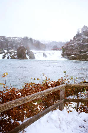 Rhine Falls near the Schaffhausen in northern Switzerland Stock Photo