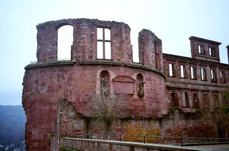 romantics: Old castle at Heidelberg, Germany