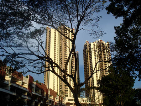 hdb: Residential housing apartment block in Singapore Stock Photo
