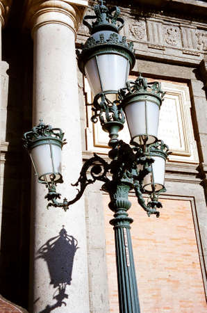 Lamp post at Naples, Italy Stock Photo