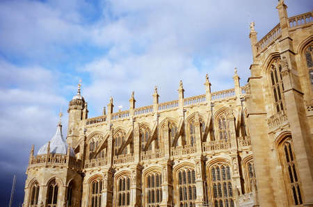 St. Georges Chapel in Windsor Castle, England Stock Photo