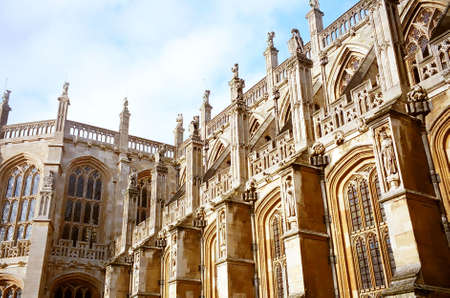 St. George's Chapel in Windsor Castle, England 写真素材